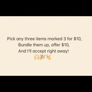 Bundle up for $10!!!!